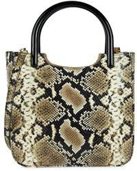 BY FAR Women's Eric Snakeskin-embossed Leather Crossbody Bag - Snake - Black