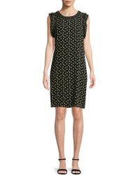 Max Studio - Dot-printed Sleeveless Dress - Lyst