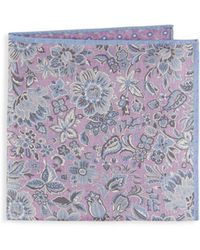Saks Fifth Avenue - Floral Silk Pocket Square - Lyst