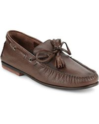 Bacco Bucci - Arena Tie Leather Loafers - Lyst