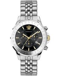 Versace Chrono Signature Stainless Steel Bracelet Watch - Multicolor