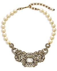 Heidi Daus Mirror Beauty Crystal, Rhinestone & Faux Pearl Necklace - Multicolour