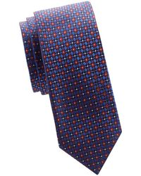 Canali - Embroidered Silk Tie - Lyst