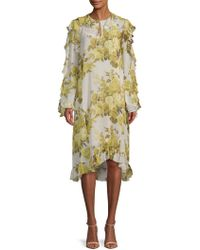 Robert Rodriguez - Printed Silk Shift Dress - Lyst