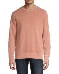 Threads For Thought - Men's Mineral Wash Long-sleeve Sweatshirt - Rose - Size Xl - Lyst
