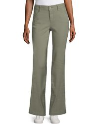 NYDJ Wylie Stretch-linen Pants - Green