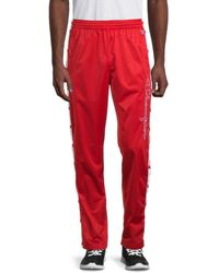 Champion Men's Snap-side Pants - Red - Size Xs