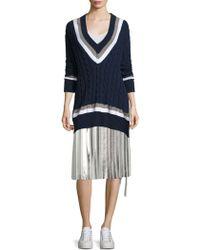 Public School Blaise Pleated Chiffon Skirt - Multicolour