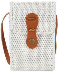Collection 18 Rattan Phone Case Crossbody - Natural