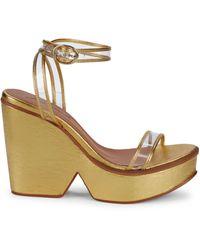 Free People Gramercy Platform Clog Sandals - Metallic