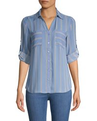 Philosophy Striped Long-sleeve Shirt - Blue