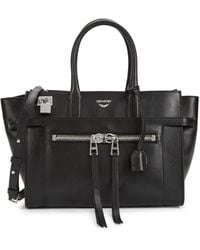Zadig & Voltaire Medium Candide Leather Top Handle Bag - Black