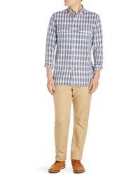 Lacoste - Plaid Cotton Button-down Shirt - Lyst