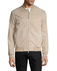 J.Lindeberg - Classic Suede Bomber Jacket - Lyst