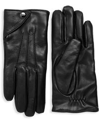 Ferragamo - Nero Leather Gloves - Lyst