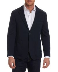 Robert Graham Tailored-fit Notch Sportcoat - Blue