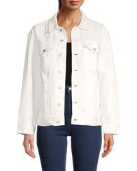 Madewell The Oversized Trucker Denim Jacket - White