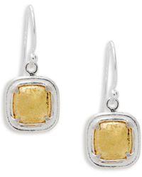 Gurhan | Sterling Silver & Goldplated Drop Earrings | Lyst