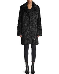 Karl Lagerfeld Faux Fur Coat - Black