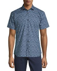 Jared Lang - Floral Cotton Button-down Shirt - Lyst