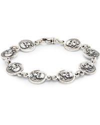 King Baby Studio - Sterling Silver Skull & Bone Bracelet - Lyst