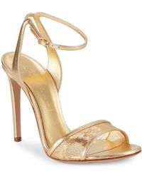 Casadei - Metallic Leather Ankle-strap Sandals - Lyst