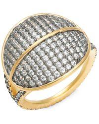 Freida Rothman - Lattice Motif Sterling Silver & Pavé Crystal Dome Ring - Lyst