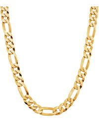Saks Fifth Avenue 18k Goldplated Sterling Silver Figaro Chain Necklace - Metallic