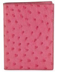 Hermès Vintage Ostrich Agenda Cover - Pink