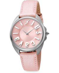 Just Cavalli - Women's Logo Stainless Steel & Leather-strap Watch - Lyst