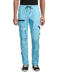 American Stitch Paisley-print Cargo Pants - Blue