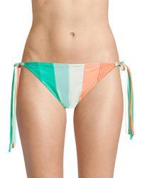 Paper London Triangle Bikini Bottom - Green