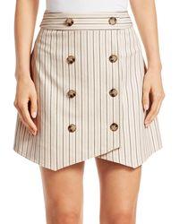 Derek Lam Striped Double-breasted Mini Skirt - Multicolour