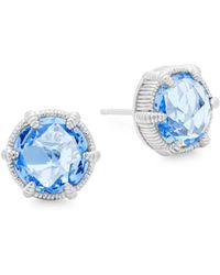Judith Ripka - Blue Quartz Stud Earrings - Lyst