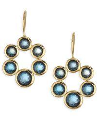 Ippolita - Blue Topaz & 18k Yellow Gold Post Earrings - Lyst