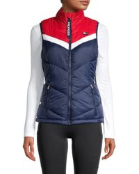 Tommy Hilfiger Stand Collar Puffer Vest - Blue