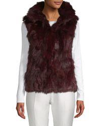 Adrienne Landau Dyed Fox And Rabbit Fur Vest - Multicolour