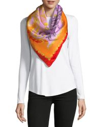 Saks Fifth Avenue - Intricate Floral-print Silk Foulard - Lyst