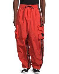 Yohji Yamamoto Shell Oversized Track Trousers - Orange