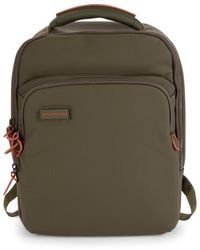 Mandarina Duck Women's Slim Touch Faux Leather Backpack - Military - Green