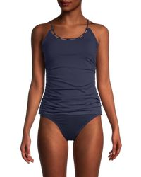 Sperry Top-Sider Women's Solid Tankini Top - Deep Sea - Size Xl - Blue
