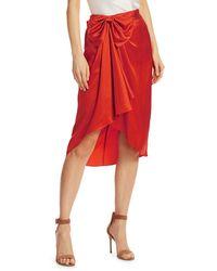 Elizabeth and James Emma Bow Silk Skirt - Red