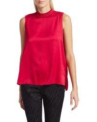 Rag & Bone Women's Letti High-neck Chevron Top - Red Pink - Size Xs