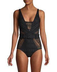 Becca Crochet One-piece Swimsuit - Black