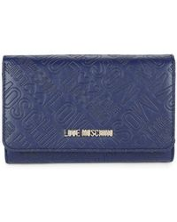 Love Moschino - Logo Embossed Faux Leather Continental Wallet - Lyst