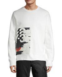 Y-3 Men's Logo Graphic Sweatshirt - White - Size M