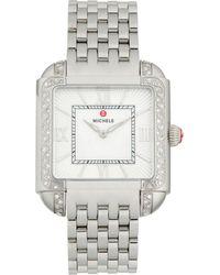 Michele Milou Diamond Stainless Steel Bracelet Watch - Metallic
