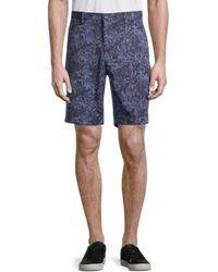 Michael Kors Men's Camo-print Shorts - Midnight - Size 30 - Blue