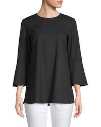 Lafayette 148 New York Sidra Bell-sleeve Blouse - Black