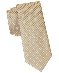 Ferragamo Men's Geometric-print Silk Tie - Yellow
